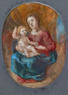 North European School - 17th/18th century - Madonna with child
