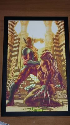 Simone Bianchi - Limited Edition Print On Canvas - Wolverine & Romulus - Signed