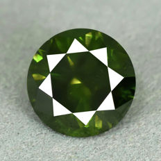 Intense Green Diamond – 3.08 ct, VG/VG/VG