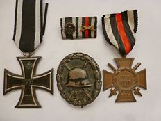 German medal set of 1 person.