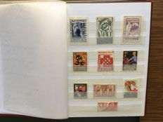 Spanish Civil War 1936/1939 - Collection of 300 stamps, small sheets, patriotic and local