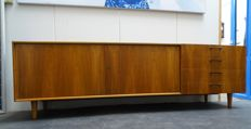 Manufacturer unknown - vintage sideboard with an upper cabinet