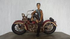Vintage Harley Davidson Motorcycle Rider - Mid 20th Century