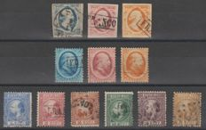 The Netherlands 1852/1868 - King Willem III - NVPH 1/3, 4/6, 7/12