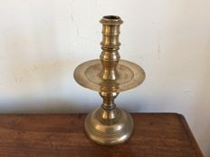 Large bronze collar candlestick - Holland - 19th century
