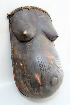 African Female Belly Mask-MAKONDE-Tanzania