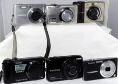 6 digital compact cameras, see description