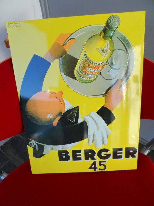 Metalen reclamebord  - Berger 45