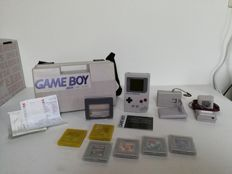 Original Gameboy Classic with 6 games, extra's and travelcase!