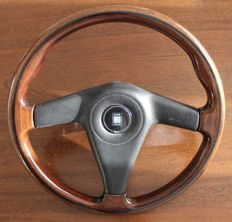 Beautiful Genuine NARDI 35cm Wood Steering Wheel with horn push