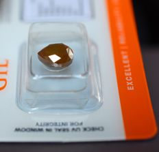 3.35 ct Pear brilliant cut diamond, natural fancy DEEP-REDDISH-ORANGE - G/G/G - P3 - VERY LOW RESERVE PRICE -