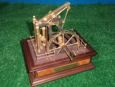 Franklin Institute Presents The Watts Steam Engine Model, made of Brass And Wood