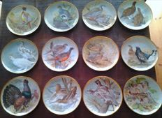 Franklin Mint for Limoges 'Gibiers du monde' by Basil Ede - 12 plates in porcelain