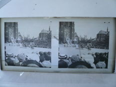 Collection of 29 stereo glass photos