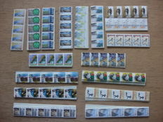 Netherlands 1986/1992 - Batch of coil stamps in long strips