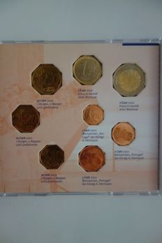 Europe - 12 different sets of Euro coins from 2002 in Fleur de Coin