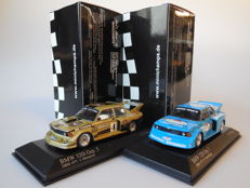 Minichamps - Scale 1/43 - Lot with 2 x BMW 320i Grp. 5 DRM 1977