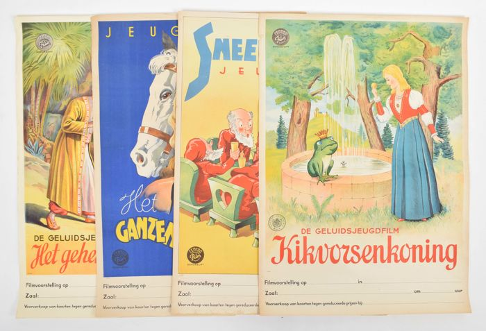 4 posters: youth movies Centra Film Dordrecht - ca. 1940