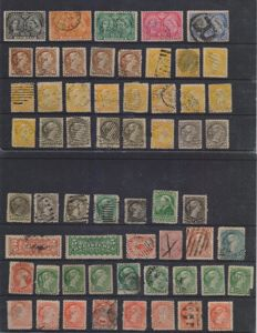 Canada, 1890/1920 - selection of stamps on card stock