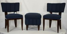 Unknown artist - couple of chairs and a footstool