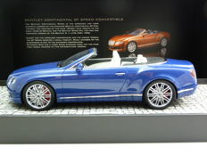 Minichamps - Scale 1/18 - Bentley Continental GT Speed Convertible 2015 - Blue