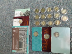 San Marino - 2 Euro 2004 up to and including 2017 Commemorative Coins (17 different) complete