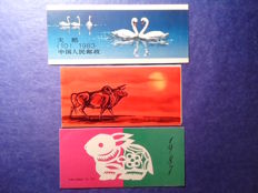 China 1983/2013 - 9x stamp booklets - SB10, SB12, SB13, SB14, SB14, SB17, SB46, SB49 and others