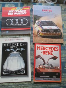 Car books (Audi/Mercedes, four items)