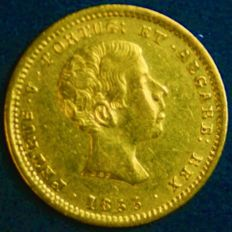 Portugal, Monarchy - D. Pedro V - 1,000 Reis 1855 - Gold