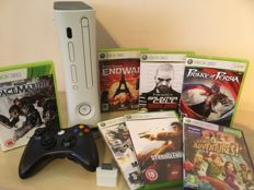 XBOX 360 Games Console + Controller + 7 Great Games + Memory Card + All Leads & Cables