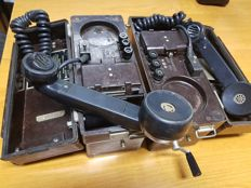 Polish Army field phone from 1972 TAP-67 (2 pieces)