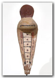 Egyptian Polychrome Painted Wood Uraeus, 11.1 cm L