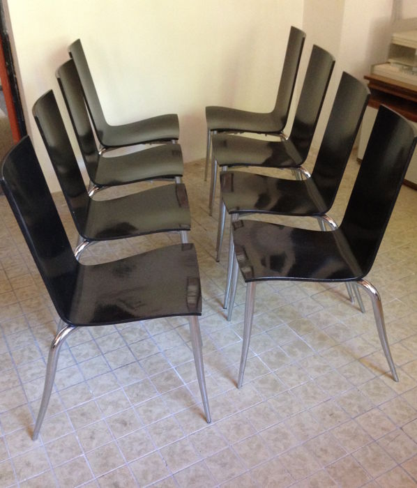 Philippe Starck for Driade - 8 chairs - Olly Tango - Catawiki