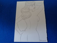 BERTHET, Philippe - Original drawing - Pin-up Calendar - (2011)