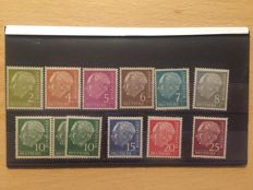 Federal Republic of Germany 1954 Heuss set