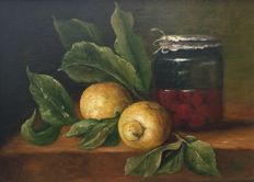 Unknown (20th/21st century) - Fruit en pot op tafel