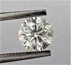 Round Brilliant Cut  - 1.04 carat - E color - SI1 clarity AIG Big Certificate + Laser Inscription On Girdle-  3 x EX.