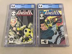 Marvel Comics - The Punisher Vol 2 - Issues #2 + #3 - CGC Graded 9.8 - 2 x sc - (1987)
