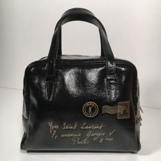 Yves Saint Laurent – Black Patent Mini Bag Y Mail with Envelope Stamp