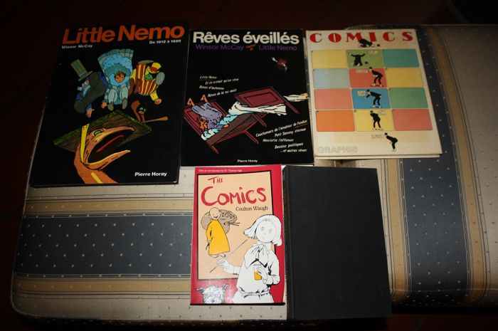 Collection of 5 Books On The History of Comics - Including Little Nemo, Dreams of Rarebit Fiend, The Art of Comics + More - Mixed Language