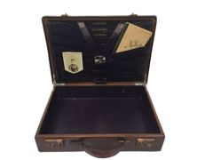 English briefcase with archive - England - approx. 1930