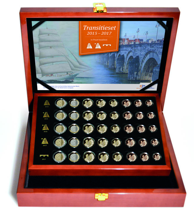 Netherlands - Transition set Euro coins 2015/2017 (40 coins)