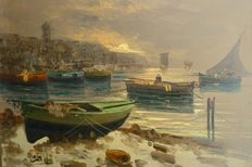 Unkown artist (20th century) - Fishing boats at sea
