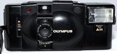 Olympus XA. 2 with Flash A 11.