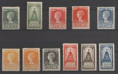 The Netherlands 1923 - anniversary of the reign - NVPH 121-131