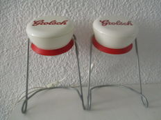 Two Grolsch design lamps ' PLOP' - Second half 20th century