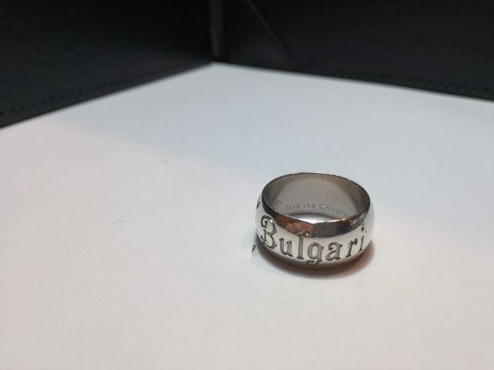 BULGARI Save the Children ring in solid 925 silver, limited edition -  International size 56 8e4ece1c1e4