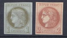 France 1870 - Yvert 39A and 40B