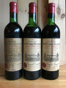 1974 Chateau Grand Corbin Despagne, Saint-Emilion Grand Cru Classé - 3 bottles 75CL