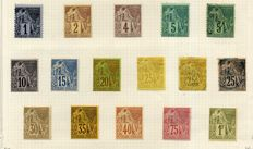 Former French colony, General issues 1859/1884 - Stamp collection